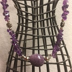 Jewelry - Silver Tone Amethyst Necklace